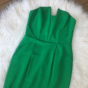 Adalyn Rae Rosalyn Sheath Dress Green Strapless L